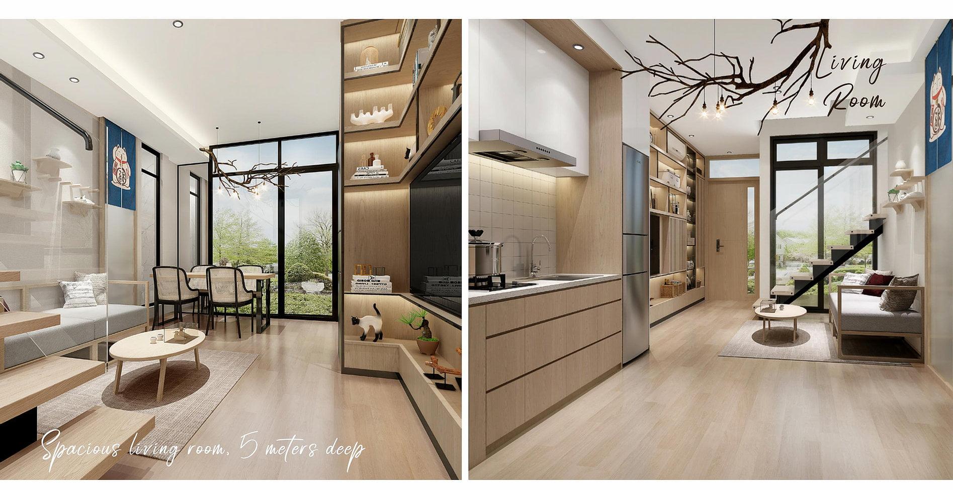 Daisan Swan City Tipe Villa Living Room